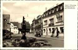 Postcard Roth Mittelfranken, Städtlerbrunnen mit Schlosskaffee