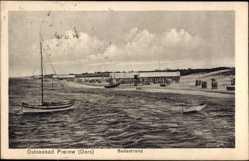 Postcard Prerow Darß, Badestrand, Ostseebad, Segelboot