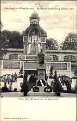 Postcard Zittau Oberlausitz, Oberlausitzer Gewerbeausstellung 1902, Albert Denkmal