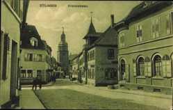 Postcard Ettlingen im Kreis Karlsruhe, Kronenstraße, Gasthaus, Café, Kirche