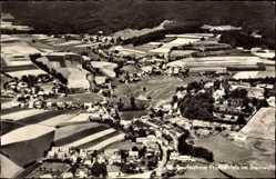 Postcard Friedenfels im Steinwald, Fliegeraufnahme von Ort und Umgebung