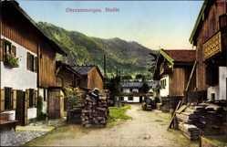 Postcard Oberammergau in Oberbayern, Studie, Einblick in den Ort