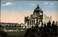 Postcard Görlitz in der Lausitz, Blick auf die Ruhmeshalle mit Umgebung
