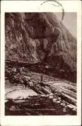 Postcard Delphi Griechenland, Théâtre et Temple d'Apollon, Antikes Apollotheater