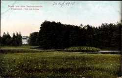 Postcard Friedrichsruh Aumühle, Schloss, Parkanlage, Wald, Beete
