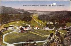 Postcard Behringersmühle Gößweinstein Oberfranken, Totalansicht des Ortes