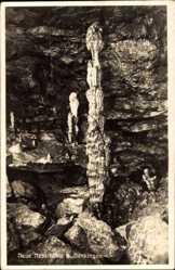 Postcard Genkingen Sonnenbühl Baden Württemberg, Neue Nebelhöhle, Stalakmit