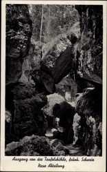 Postcard Pottenstein im Kreis Bayreuth Oberfranken, Teufelshöhle, Neue Abteilung