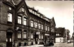 Postcard Hessisch Oldendorf an der Weser, Hotel Heitz, Straßenpartie