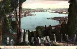 Postcard Konstantinopel Istanbul Türkei, Cimetière turc à Eyoub