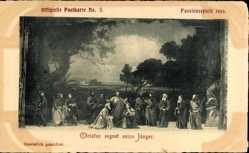 Ak Oberammergauer Passionsspiele, No 3, Christus segnet seine Jünger
