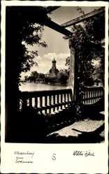 Postcard Wasserburg am Bodensee Schwaben, Blick auf die Kirche