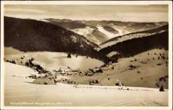 Postcard Muggenbrunn Todtnau im Südschwarzwald, Verschneite Ortschaft