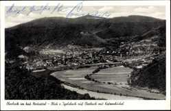 Postcard Eberbach im Rhein Neckar Kreis, Blick von Igelsbach auf Ort mit Katzenbuckel