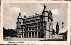 Postcard Offenbach am Main Hessen, Blick von außen auf das Schloss