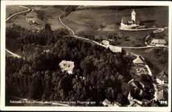 Postcard Schönau bad. Schwarzwald, Fliegeraufnahme, Parkhotel Sonne