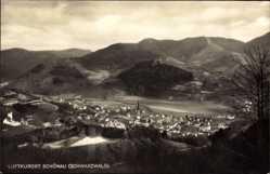 Postcard Schönau bad. Schwarzwald, Blick auf den Ort und die Umgebung