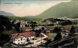 Postcard Josefsthal Schliersee im Kreis Miesbach Oberbayern, Panorama des Ortes