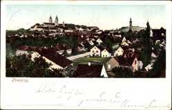 Postcard Freising in Oberbayern, Blick auf den Ort, Kirchen, Häuser, Purger 662