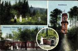 Postcard Walddorf Kottmar, Aussichtsturm, Restauration, Spreequelle
