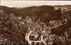 Postcard Bad Berneck im Fichtelgebirge Oberfranken, Stadtpanorama, Waldhang