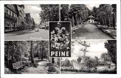 Wappen Ak Peine, Breitestraße, Stadtpark, Herzberg, Badeanstalt