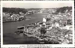 Postcard Porto Portugal, Vista parcial e aspecto do Rio Douro