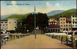 Postcard Insel Madeira Portugal, Entrance to Town, Eingang in den Ort