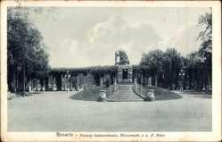 Postcard Rosario Argentinien, Parque Independencia, Monumento a L.N. Alem