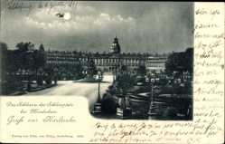 Postcard Karlsruhe in Baden Württemberg, Das Schloss und der Schlossplatz