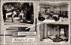 Postcard Heimbach in der Eifel, Gasthof Fischbachtal von außen und innen