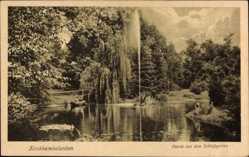 Postcard Kirchheimbolanden im Donnersbergkreis, Partie im Schlossgarten