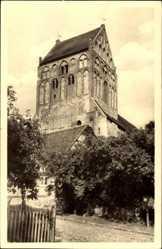 Postcard Lychen im Kreis Uckermark, Blick auf die St. Johannis Kirche