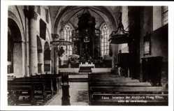 Foto Ak Elten Emmerich an Niederrhein, Innenansicht der Kirche
