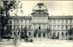Postcard Karlsruhe in Baden Württemberg, Blick auf Friedrichs Schulhaus