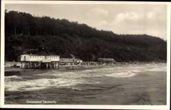 Postcard Ückeritz auf der Insel Usedom, Ostseebad, Blick auf den Strand