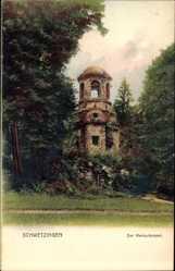 Postcard Schwetzingen im Rhein Neckar Kreis, Ansicht vom Merkurtempel