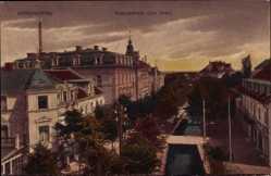Postcard Bad Wörishofen im schwäbischen Keis Unterallgäu, Knelopstraße von oben