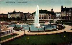 Postcard Mannheim in Baden Württemberg, Fontäne am Friedrichsplatz