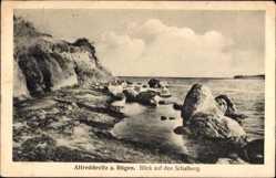 Postcard Altreddevitz Middelhagen Insel Rügen, Blick auf den Schafberg