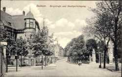 Postcard Bochum im Ruhrgebiet, Bergstraße und Stadtparkeingang