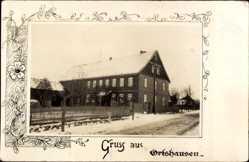 Foto Ak Ortshausen Bockenem, Wohnhaus im Winter, Schnee