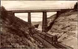 Postcard Suhl in Thüringen, Zahnradbahn Suhl Schleusingen, Brücke
