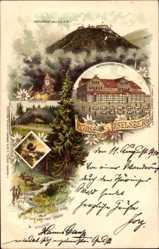 Litho Inselsberg Brotterode Trusetal, Gothaisches Hotel, Zwerg, Thorsten