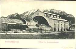 Postcard Oberammergau in Oberbayern, Bühne des Passionstheaters