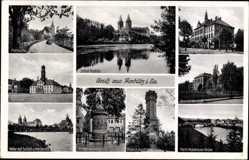 Postcard Rochlitz Sachsen, Rathaus, Deutsche Oberschule, Wehr, Rathaus