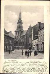 Postcard Hasselt Flandern Limburg, Église St. Quintin, Kirche