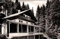 Postcard Schongau in Oberbayern, Pension Café Holl, Erwin Holl, Wintergarten