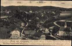 Postcard Lückendorf Oybin in Sachsen, 500 Jahr Feier 1904, Totalansicht, Kirche