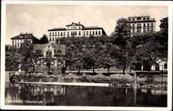 Postcard Zschopau im Erzgebirge Sachsen, Wasserblick zur Oberschule